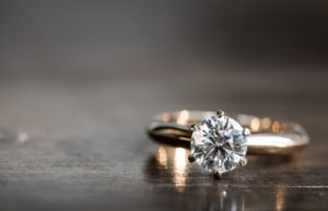 Engagement Ring Baguette Side Stones